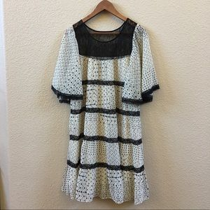 NWT chiffon babydoll tiered dress & bell sleeves